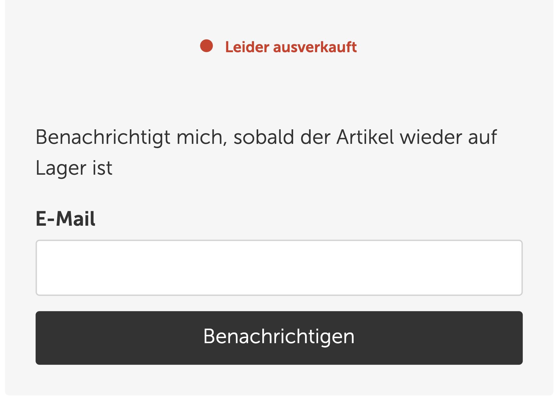 Screenshot vom Form für das Benachrichtigungs-Service