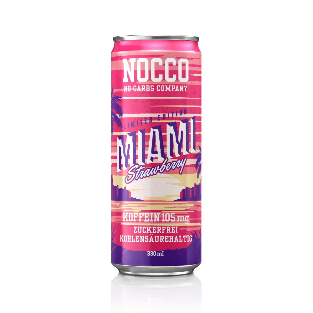 Nocco BCAA 330ml Miami aardbei