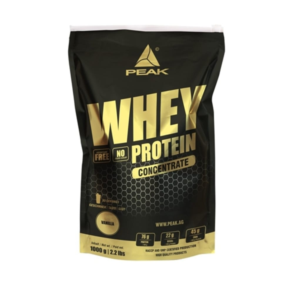 Whey eiwit Concentrate 1000g vanille