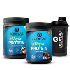 2 x Bodylab24 Vegan Protein (1000g) + Shaker