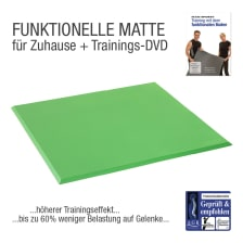 Functional Training Bodenmatte Grün + Übungs-DVD
