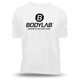Bodylab24 T-Shirt weiß mit schwarzem Logo