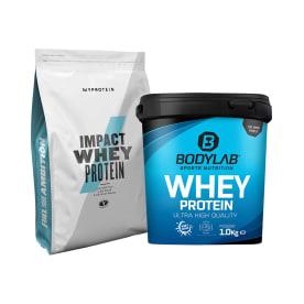 Whey Protein (2000g) + MyProtein Impact Whey Protein (1000g)
