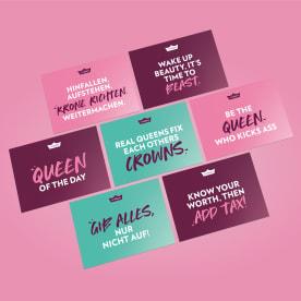 Postkarten Set - Queen Edition (7 Stück)