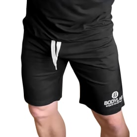 Bodylab24 Shorts Schwarz mit weißem Logo