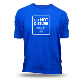 Bodylab24 T-Shirt blau 'Do not disturb'