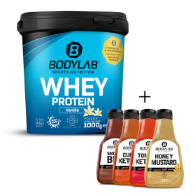 BBQ Deal (1 Whey Protein (1000g) + 4 Premium Zero Saucen)