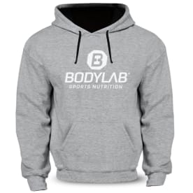 Hoodie grijs (met zwart Bodylab logo)