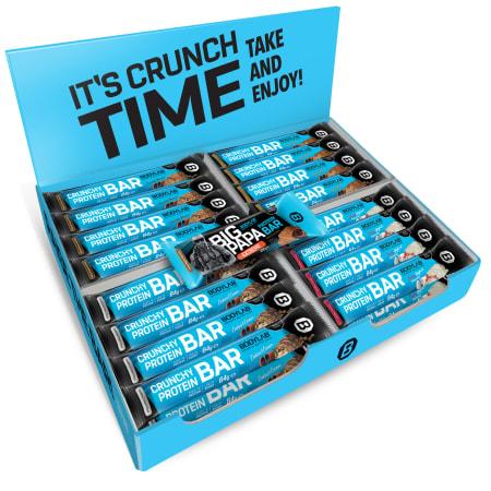 Crunchy Protein Bar MIX BOX (32x64g) + 1 GRATIS BIG PAPA Protein Bar - FLASH DEAL