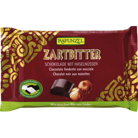 Zartbitter Schokolade 60% mit Nüssen bio (100g)