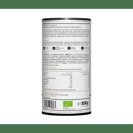 "Bio Low Carb Müsli Cranberry & Buchweizen ""Healthy Sunrise"" (350g)"