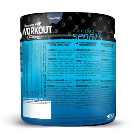 Concentrated Pre Workout - 375g - Black Currant