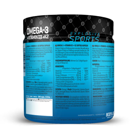 Omega-3 + D3 + K2 (omega-3 triglyceride + vitamins)  (240 softgel capsules)
