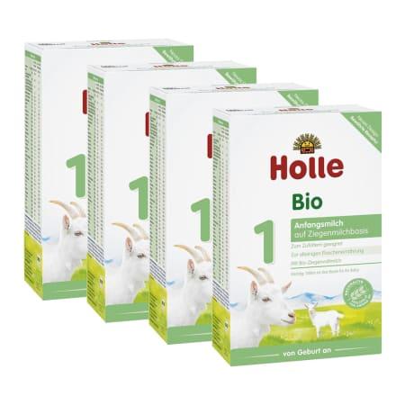 4 x Bio-Anfangsmilch 1 auf Ziegenmilchbasis von Geburt an (4x400g)