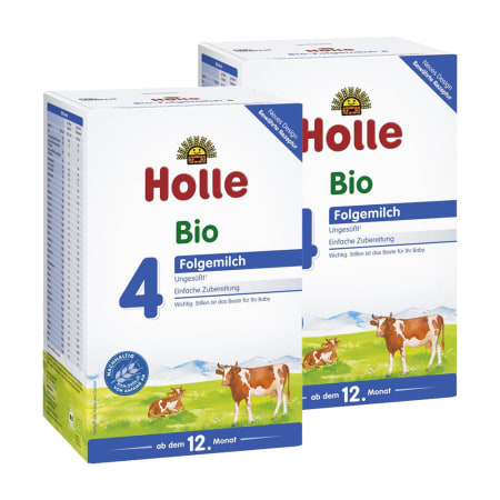 2 x Bio-Folgemilch 4, ab dem 12. Monat (2x600g)