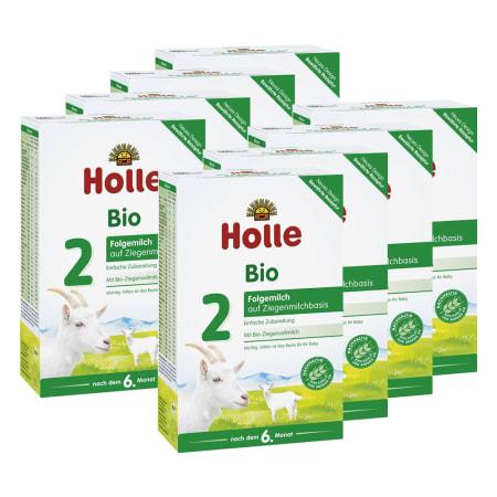 8 x Bio-Folgemilch 2 auf Ziegenmilchbasis nach dem 6. Monat (8x400g)