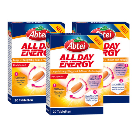 3 x All Day Energy (3x20 Tabletten)
