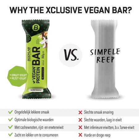 Protein Bar (vegan) XCLUSIVE Line (12x50g)
