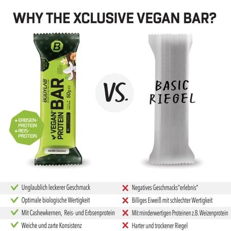 Protein Bar (vegan) XCLUSIVE Line (12x50g)
