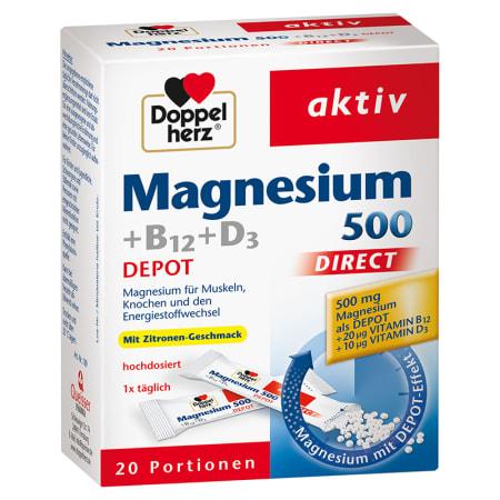 Magnesium 500 + B12 + D3 Depot direct (20x1,6g)