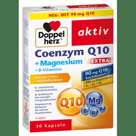 Coenzym Q10 Extra + Magnesium + B-Vitamine (30 Kapseln)
