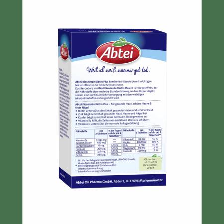 Kieselerde Plus Zink Kupfer Biotin Depot (56 Tabletten)