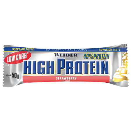 40% Low Carb High Protein Bar - 24 x 50g - Erdbeere - MHD 30.06.2019