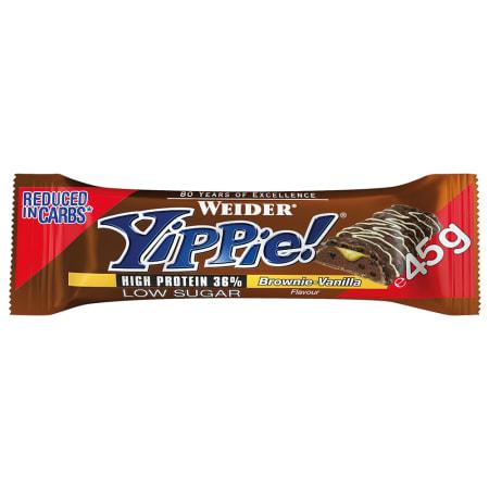 YIPPIE! Bar - 12x45g - Brownie Vanilla
