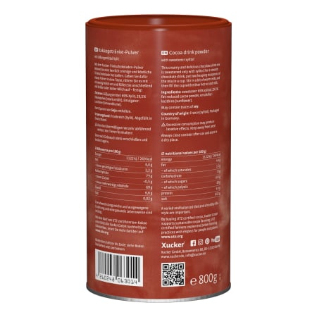 Xucker Hot Chocolate Trink-Schokolade (800g)