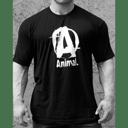 Animal Basic Logo Tee Black