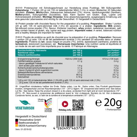 Protein Pudding Schoko (15x20g)