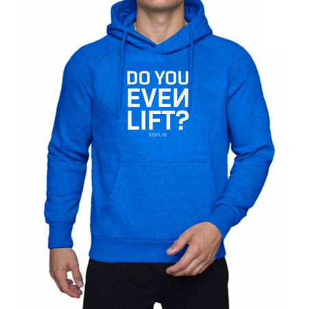 Bodylab24 Hoodie blue/white 'Do you even lift'