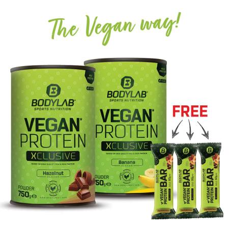 Double Vegan Protein XCLUSIVE Deal + 3 Protein Bar (vegan)