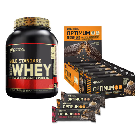 100% Whey Gold Standard (2273g) + Protein Bars (10x60g)
