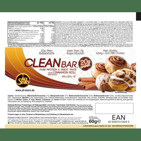12 x Clean Bar (12x60g)