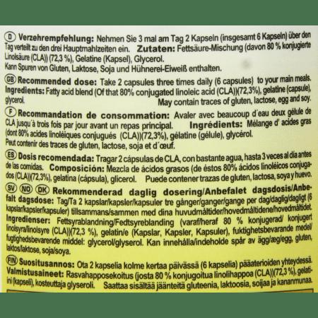 CLA - Konjugierte Linolsäure (130 Kapseln)