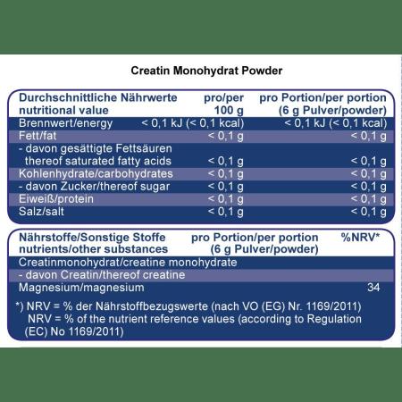 Creatin Monohydrat (500g)