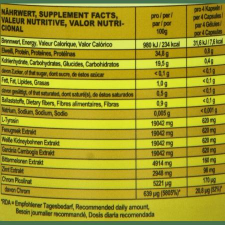 Diet Booster Appetit- und Carbblocker (150 capsules)
