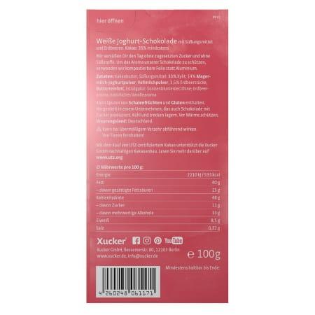 Erdbeer-Joghurt Weiße Schokolade (100g)
