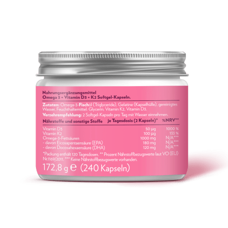 Omega 3 + D3 + K2 (240 Kapseln)