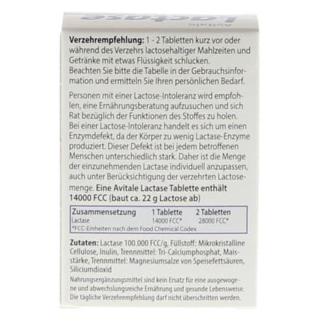 Lactase 14000 FCC (80 Tabletten)