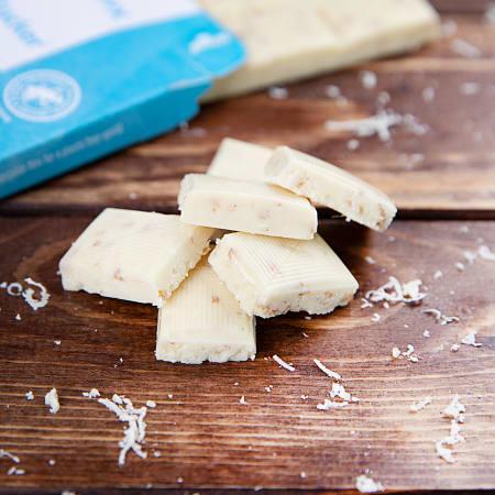 Weiße Xylit-Schokolade Kokos & Flakes (80g)