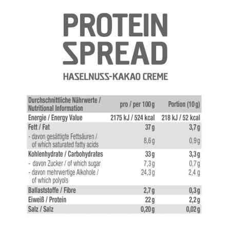 Protein Spread Haselnuss-Kakao Creme (200g)