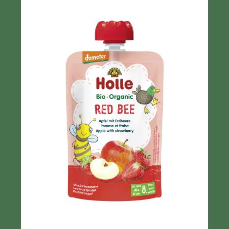 Demeter Red Bee - Pouchy Apfel mit Erdbeere, ab dem 8. Monat (100g)