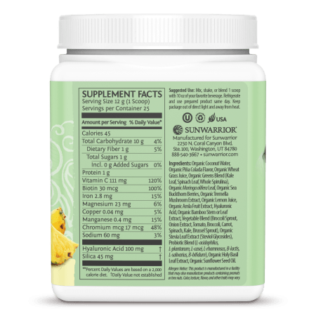 Beauty Greens Collagen Piña Colada (300g)