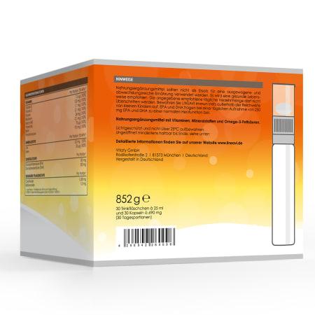 Immun (30 Trinkfläschchen + 30 Omega 3 Kapseln)