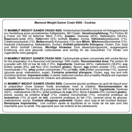 Weight Gainer Crash 5000 (4500g)