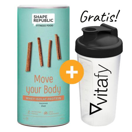 Whey Isolat Protein (420g) + GRATIS Vitafy Shaker (600ml)