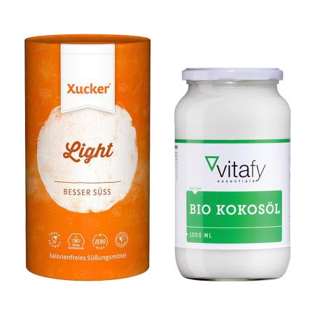 1 x Bio Kokosöl (1000ml) + 1 x Xucker light europ. Erythrit (1000g)