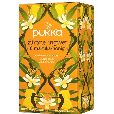 Zitrone, Ingwer & Manukahonig Tee bio (20 Beutel)